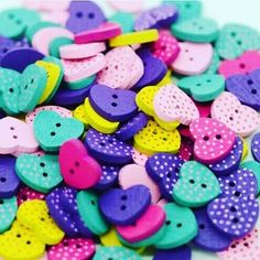 Colorful lovely eye candy buttons!