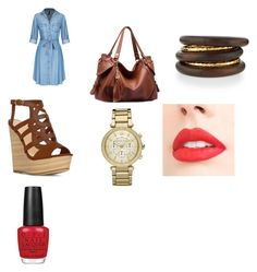 """""""always denim"""" by ruth-jaimie-hollingsworth on Polyvore featuring NEST Jewelry, Michael Kors and OPI"""