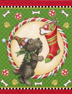 Mary Engelbreit Christmas Cards with Scottie Scottish Terrier Dog