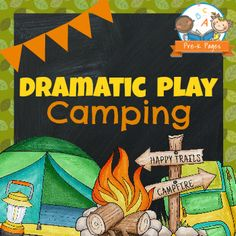 Play Camping Dramatic play camping theme printables for the dramatic play center in your preschool, pre-k, or kindergarten classroom.Dramatic play camping theme printables for the dramatic play center in your preschool, pre-k, or kindergarten classroom. Camping Dramatic Play, Dramatic Play Themes, Dramatic Play Area, Dramatic Play Centers, Preschool Themes, Kindergarten Classroom, Classroom Themes, Kindergarten Centers, Learning Centers