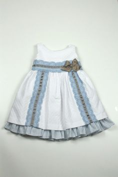 www.locotren.es Vestidos bebe niño niña Algeciras Little Girl Summer Dresses, Baby Girl Dresses, Little Dresses, Baby Dress, Toddler Dress, Toddler Girl, Cute Outfits For Kids, Stylish Kids, Baby Sewing
