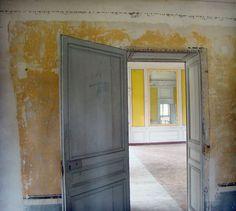 Door open to empty farmhouse...