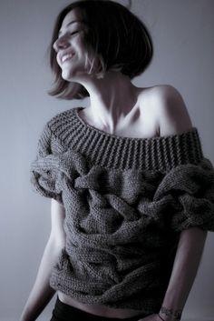 AQUA short sleeves sweater by NihanAltuntas on Etsy