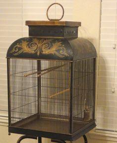 Tole bird cage