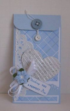 Wedding Card Templates Mozelle: Wedding Card Money Holder by Sweet Irene - Cards and Paper Crafts at Splitcoaststampers Coin Envelopes, Money Envelopes, Gift Cards Money, Diy Cards, Wedding Anniversary Cards, Wedding Cards, Anniversary Ideas, Wedding Bride, Wedding Gifts