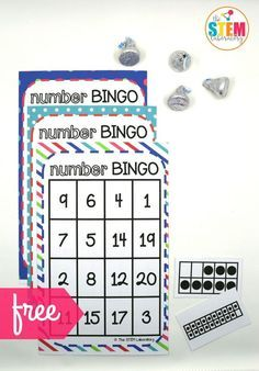 I love this Number BINGO math game for kids! So excited that it practices those tricky teen numbers too. Fun activity for kindergarten.