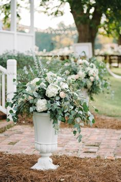 I love eucalyptus. Dad has a euc tree we can cut from. eucalyptus arrangements | Britt Croft #wedding
