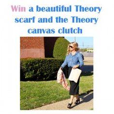 win a beautiful Theory #Scarf and the Theory canvas #Clutch ^_^ http://www.pintalabios.info/en/fashion-giveaways/view/en/3302 #International #Fashion #bbloggers #Giweaway