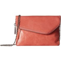 Hobo Daria (Coral) Handbags ($98) ❤ liked on Polyvore featuring bags, handbags, shoulder bags, red shoulder bag, kiss lock coin purse, coin purse, hobo shoulder bags and man bag