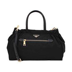 8c6f9d12b68c Prada 1N1727 Tessuto Nylon and Leather Bow Crossbody Bag Fuchsia ...