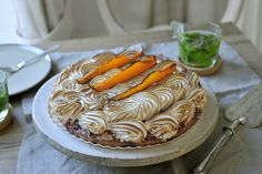 Pompoen merengue taart