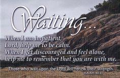 Isaiah 40:31 † Waiting...