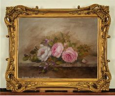 English roses & grasses ✿ Original paintings by Helen Flont