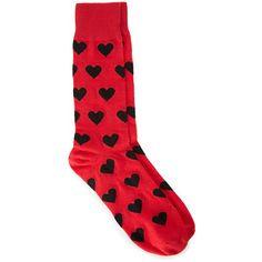 21 MENS Heart Print Socks