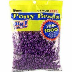 Pony Bead Big Value Pack 9mm 1000/Pkg