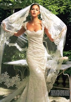 wedding gown- this looked like the one I got married in, pretty veil