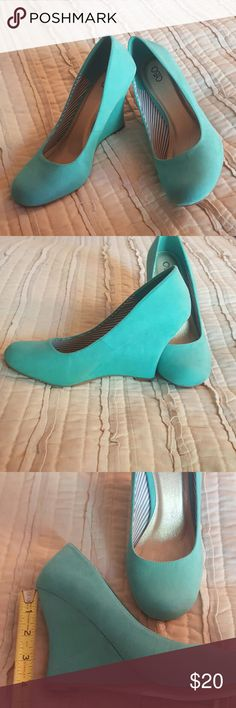 Brand NEW never worn wedges!! WOW! These mint green wedges will be your new thing!! Cato Shoes Wedges
