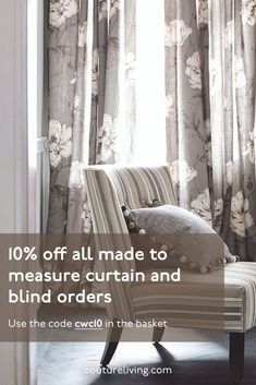 Hand stitched Made to Measure Curtains, Roman Blinds and Voile by Couture Living. We have hundreds of fabrics to choose from along with designer brands Floral Curtains, Custom Curtains, Floral Fabric, Blinds Online, Pre Christmas, Penthouse Apartment, Made To Measure Curtains, Curtain Patterns, Five Star Hotel