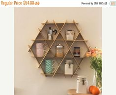 SALE kitchen storage Coffee Shelf kitchen by RucheShelving on Etsy