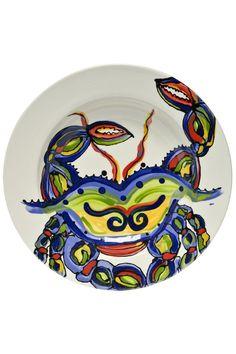 Hand painted Ceramic Round Crab Design Measures 10\  diameter; 1.5\  depth Crab  sc 1 st  Pinterest & Bloomingville Ceramic Bowls Set | Rounding and Boutique