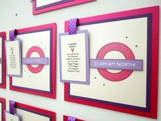 London Tube Sign Underground Wedding Table Plan, Table Names and Wedding Card Post Box
