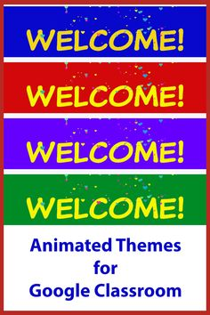 Decorate your classroom with an animated theme! Online Classroom, Classroom Decor, Classroom Birthday, Google Classroom, Educational Technology, Headers, Back To School, Animation, Learning
