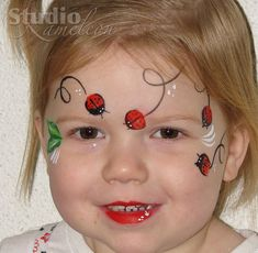 Face painting examples are very useful in the art of face painting. One of the greatest things about face painting examples, is that there are many reference Face Painting Tutorials, Face Painting Designs, Face Painting For Boys, Painting Patterns, Paint Designs, Body Painting, Ladybug Face Paint, Easter Face Paint, The Face