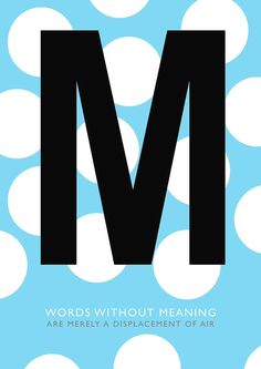 M - from the Typographical Alphabet by Tony Baker