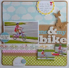 Perfect girly page. #scrapbooking #layouts
