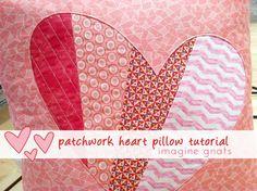 patchwork heart pillow header