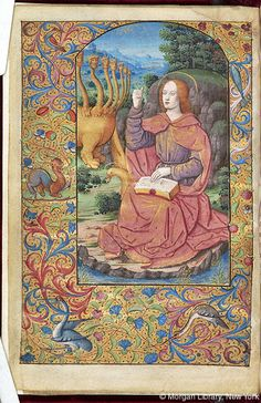 Book of Hours, MS M.160 fol. 1v - Images from Medieval and Renaissance Manuscripts - The Morgan Library & Museum