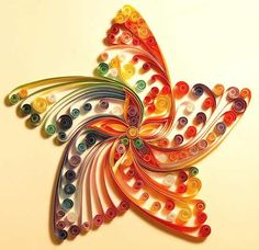 Quilling is the art of creating little rolls from delicate strips of paper and shaping them into intricate designs. The art of Quilling date. Arte Quilling, Paper Quilling, Quiling Paper, Quilling Patterns, Quilling Designs, Quilling Ideas, Quilling Images, Quilling Flowers, Diy Paper