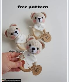 2019 All Best Amigurumi Crochet Patterns - Amigurumi Free Pattern The most admired amigurumi crochet toy models in 2019 are waiting for you in this article. The most beautiful amigurumi toy patterns are all on this site.Baby crochet teethers and pacifiers Crochet Baby Toys, Crochet Bunny, Crochet Patterns Amigurumi, Amigurumi Doll, Crochet Dolls, Baby Knitting, Free Crochet, Knitting Patterns, Handmade Baby