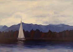 sailboat painting. acrylic on canvas. 70 x 100 cm.  can you spot the photo that inspired this one? ;)