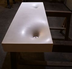 ONly need half for guest bath - Concrete Sink by Formed Stone Design (formedstonedesign.com)