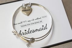 Soon to Be Mrs - Cake - Keepsake Personalized Bangle Set for Bride to be Bridal Shower - trinky things | personalized bangle sets