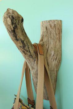 Large Driftwood Wall Hook Natural Driftwood by StrollinTheBeach