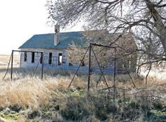 The Peace Valley School was built in 1911 by homesteaders and closed in 1946, and, as of this writing, what remains of the semi-ruined school, along with