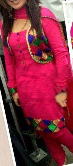 Beautiful phulkari with jacket Phulkari Suit, Patiala Salwar Suits, Punjabi Suits, Punjabi Fashion, Indian Fashion, Teen Fashion, Fashion Outfits, Indian Suits, Indian Wear