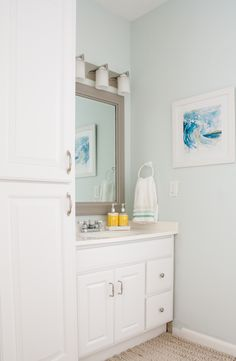 Sherwin Williams Sea Salt Blue Gray Paint And Beach Theme