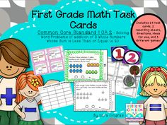 Labor Day Flash FREEBIE math task cards for 1st grade