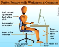 Maintaining the right posture at your desk can help you keep fit. Check out this article to know what is the position you should be sitting in. Health And Safety, Health And Wellness, Health Tips, Health Care, Health Fitness, Office Safety, Workplace Safety, Fitness Tips, Fitness Motivation