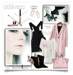"""BHalo76"" by sneky ❤ liked on Polyvore featuring DKNY, Sophia Webster, Trish McEvoy, women's clothing, women's fashion, women, female, woman, misses and juniors"