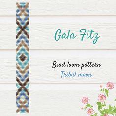 Bead loom pattern, Boho tribal loomed bracelet pattern #beadloom #loombeading #loompattern #bohotribal #braceletpattern #galafitz #bohobracelet