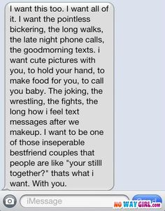 funny text messages/Everyone wants a relationship like this text