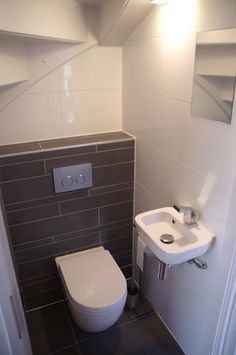 Best Basement Bathroom Ideas On Budget, Check It Out! Tags: basement bathroom above ground plumbing, basement bathroom addition plumbing, basement bathroom already roughed in, basement bathroom add value Kitchen Under Stairs, Bathroom Under Stairs, Add A Bathroom, Downstairs Bathroom, Bathroom Ideas, Toilet Under Stairs, Cloakroom Ideas, Bathroom Layout, Small Downstairs Toilet