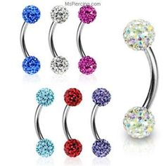 Love these for a double navel piercing
