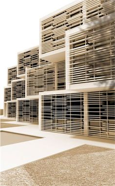 solar shading for apartments, although these are classrooms