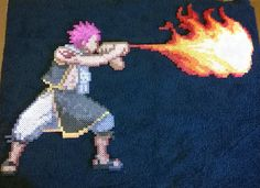 Natsu Dragneel - Fairy Tail Perler by AesynneZephyrstorm