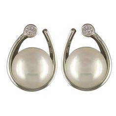 Solid-Sterling-Silver-925-Jewellery-Faux-Pearl-Stud-Earrings